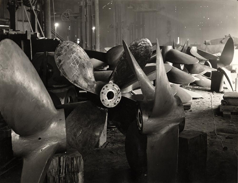 "Propellers at the Blair Foundry in Ayrshire<br /> Examples of the Andrew Strang & Co's products are preserved at the Dean Castle Museum in Kilmarnock and can be seen via the following link<br /> <br /> <a href=""http://www.futuremuseum.co.uk/Default.aspx?Id=433"">http://www.futuremuseum.co.uk/Default.aspx?Id=433</a>"
