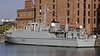 HMS Pembroke, Canning Dock. Liverpool, Sun 26 May 2013 1.  One of seven Sandown class minehunters.