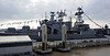 RFS Vice Admiral Kulakov, Cruise Terminal, Liverpool, Sun 26 May 2013 2.  Kulakov mounts two SS-N-14 anti-submarine missile launchers behind two 100mm guns.