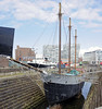 De Wadden, Canning Dock. Liverpool, Sun 26 May 2013.  Coastal schooner built in Holland in 1917 that sailed for many years under the British flag.