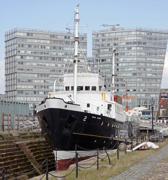 Edmund Gardner, Canning Dock. Liverpool, Sun 26 May 2013.  Liverpool pilot vessel built in Dartmouth in 1953.