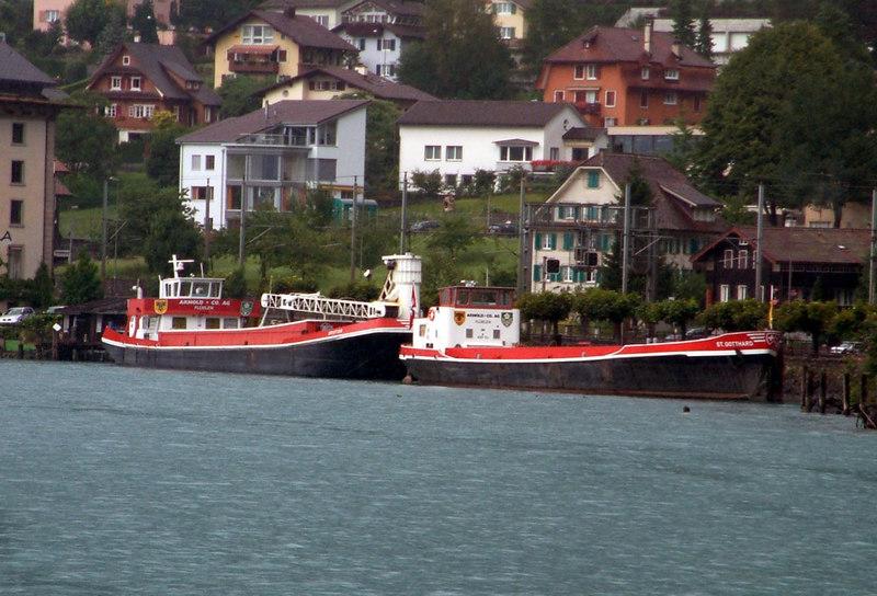 Arnold AG cargo ships at Fluelen