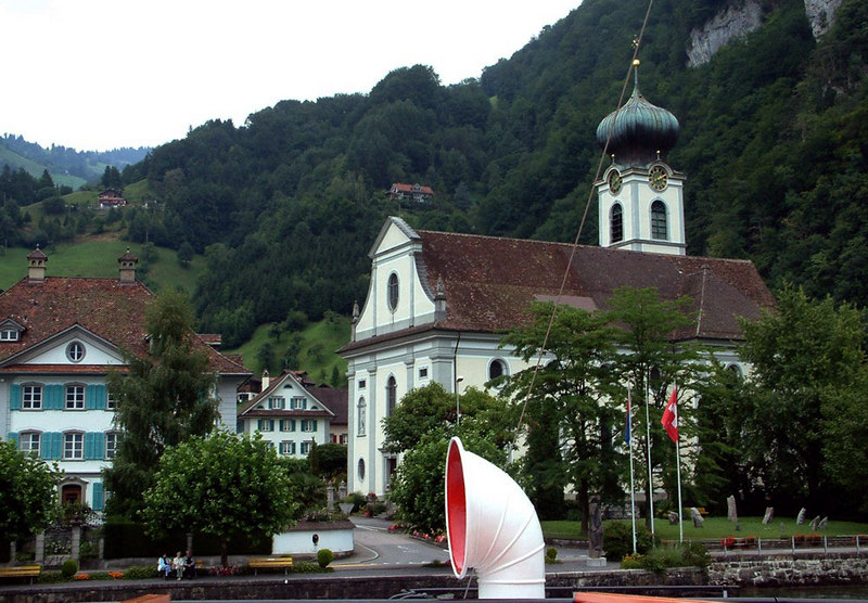 The church of Gersau, until the 19th Century the little town of Gersau was an independent state from the Swiss Confederation.