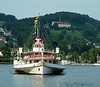 Paddle steamer Gallia arriving in Luzern