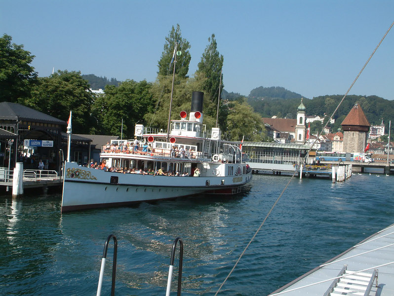 Paddle steamer Unterwalden at Pier 2, Luzern