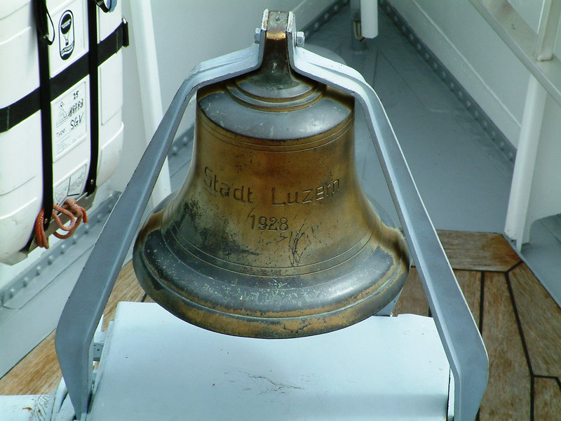 The bell of paddle steamer Stadt Luzern