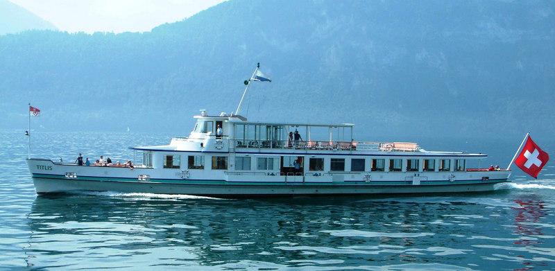 Motor vessel Titlis en route from Hertenstein to Vitznau