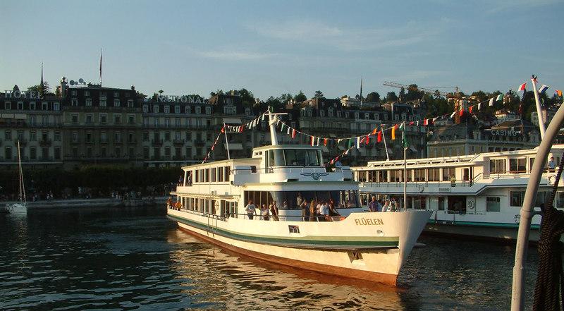 Motor vessel Fluelen off Schweizerhofquai, Luzern