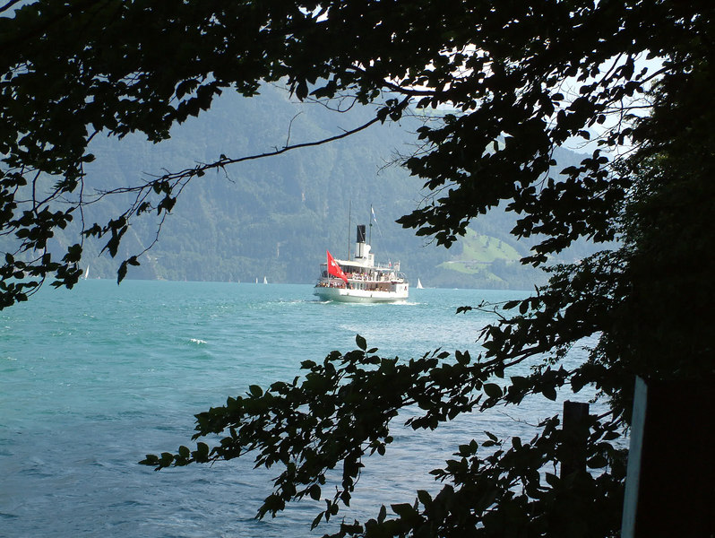 Paddle steamer Gallia in the Urnersee near Rutli