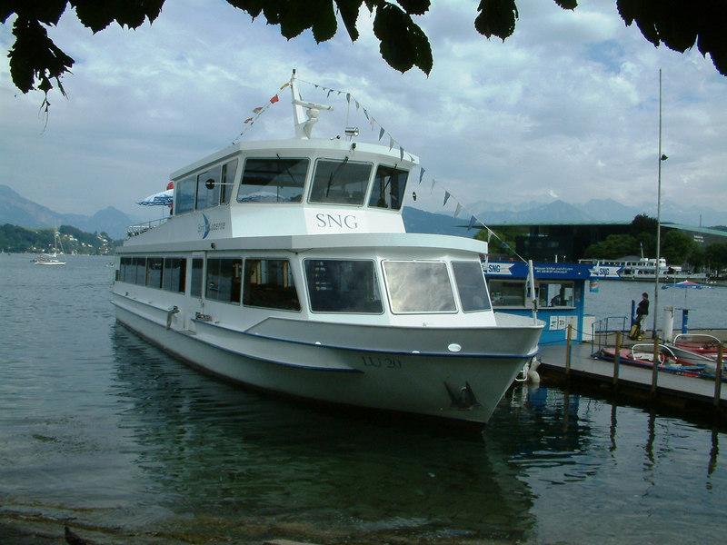 The new excursion boat Spirit of Luccerne at Schweizerhofquai, Luzern