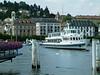 Motor vessel Weggis arriving at Luzern Pier 1