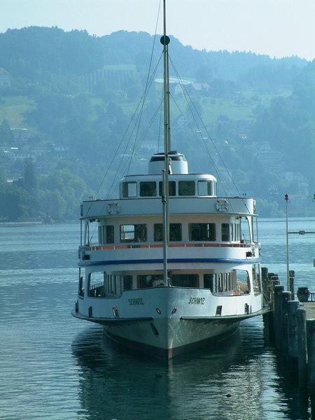 Motor vessel Schwyz at SGV Shipyard, Luzern