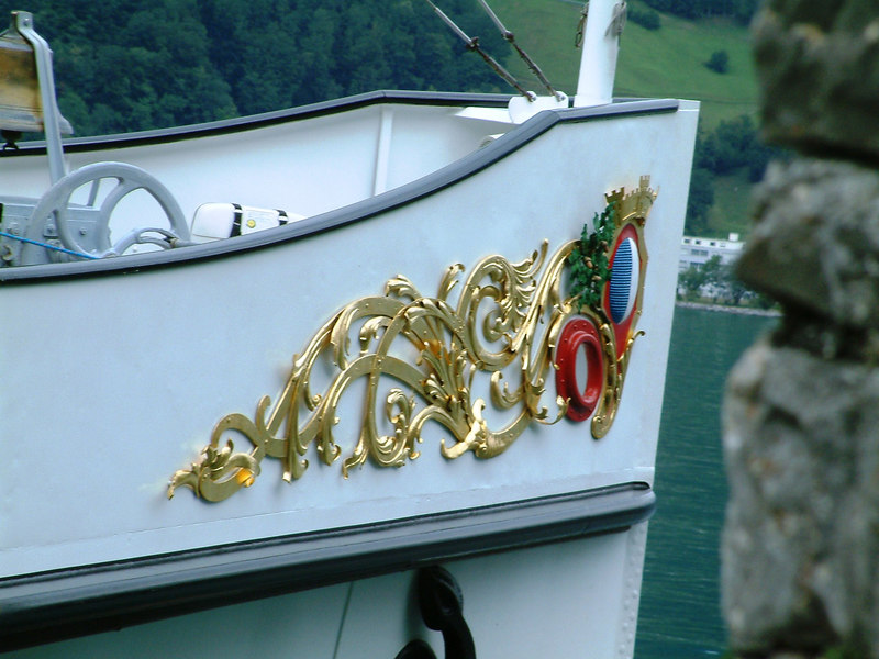 Bow crest of paddle steamer Stadt Luzern