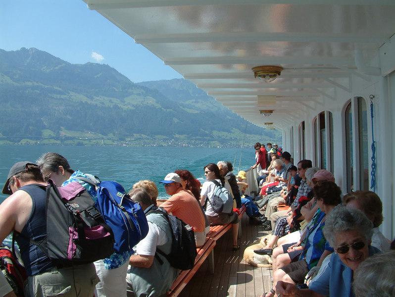 Main deck aft on paddle steamer Schiller