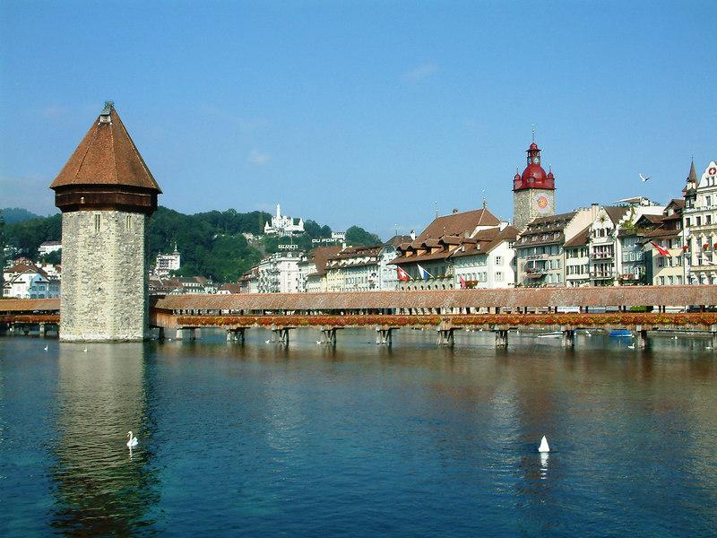 Kapelbrucke, Kapelquai and Gotsch, Luzern