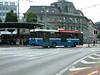 Trolley bus leaving Luzern bus station