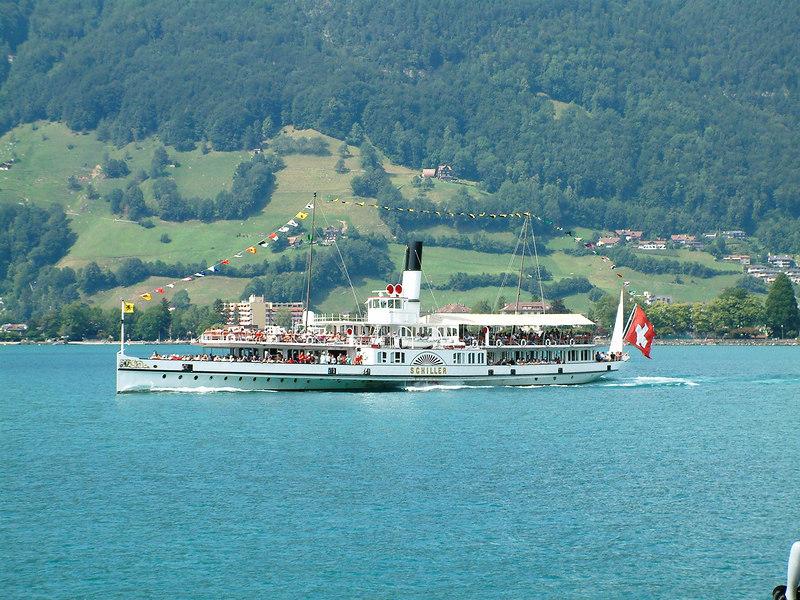 Paddle steamer Schiller near Brunnen
