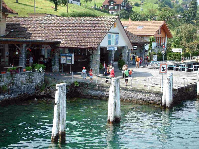 The pier at Kehrsiten Burgenstock