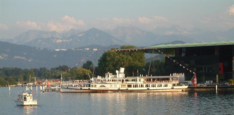 Paddle steamer Stadt Luzern at Pier 3, Luzern