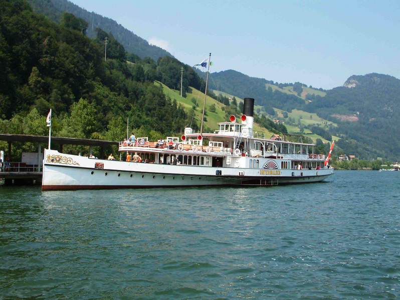 Paddle steamer Unterwalden at Alpnachstad