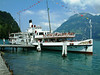 Paddle steamer Stadt Luzern at Bauen on Swiss National Day 2003