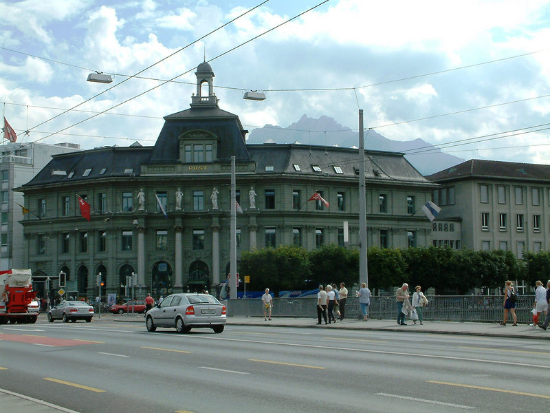 Main Post Office, Luzern and Mount Pilatus