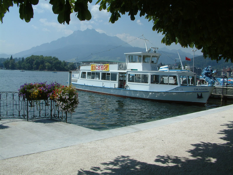 Motor vessel Dragon at Schweizerhofquai, Luzern
