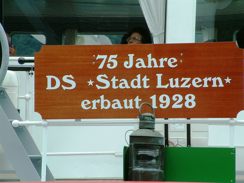 '75th Year of Steamship 'Stadt Luzern' built in 1928'