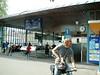 Entrance to Bahnhofquai Pier 1 - the main steamer pier of Luzern