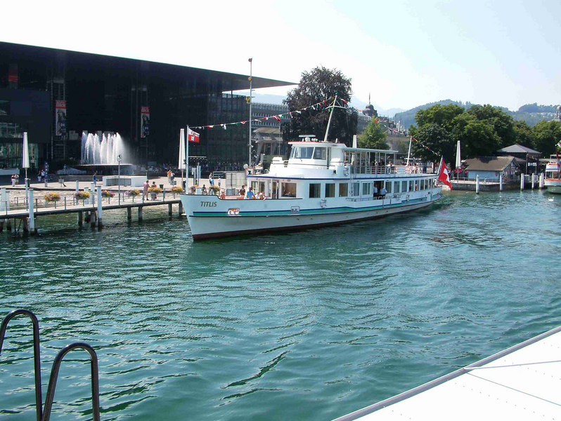Motor vessel Titlis at Pier 3, Luzern