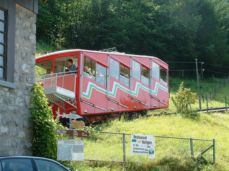 The Treib - Seelisberg funicular at Treib station
