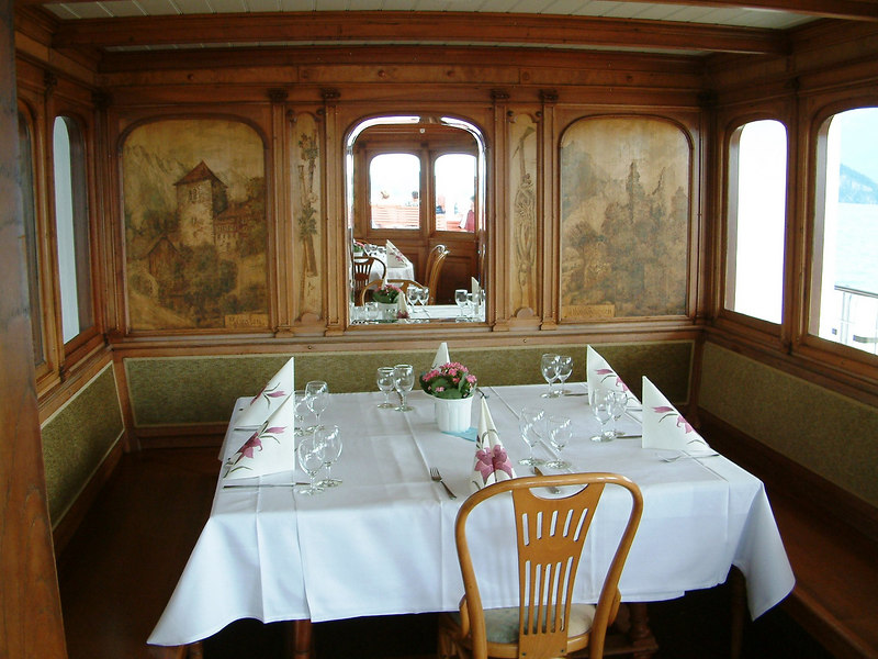 Restored Stubli on paddle steamer Uri