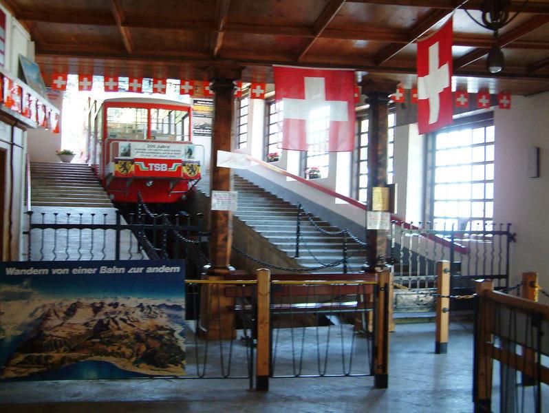 The Treib - Seelisberg funicular at Treib station