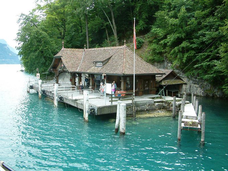 Pier at the Rutli, birthplace of Switzerland
