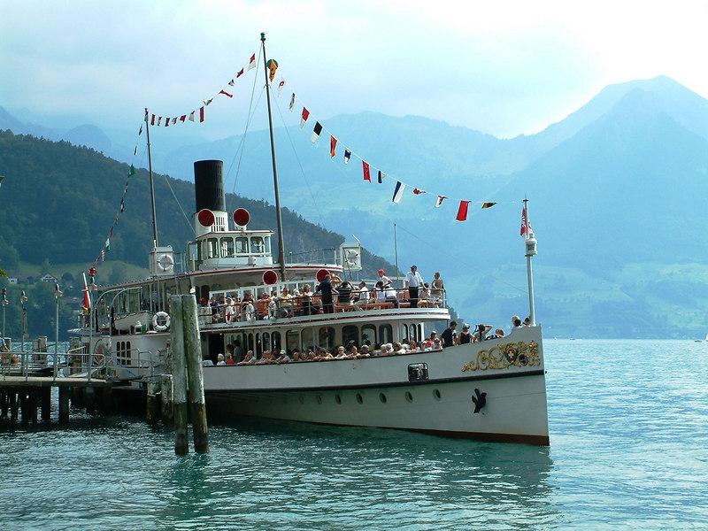 Paddle steamer Unterwalden at Vitznau