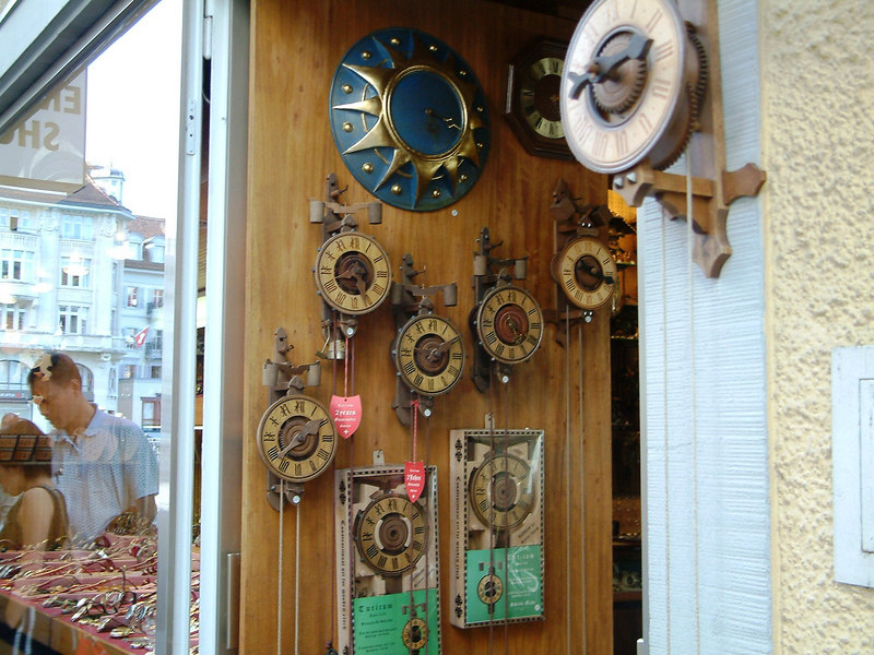 Old Swiss clocks