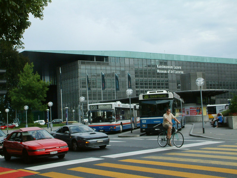 Luzern Art Museum and bus station