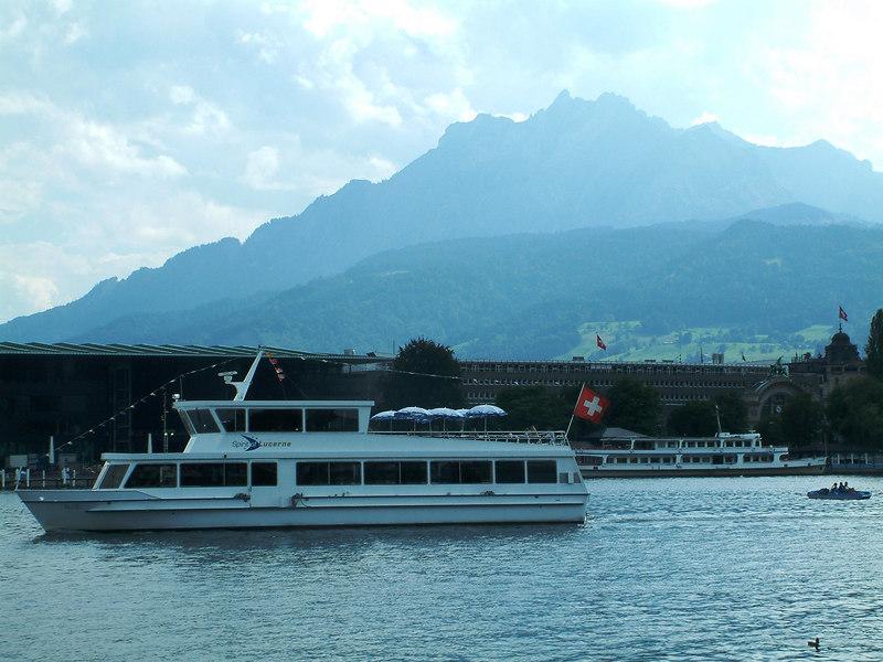 Motor vessel Spirit of Lucerne and Mount Pilatus