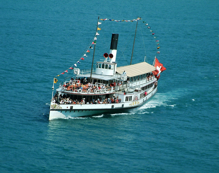 Paddle steamer Uri on the Vierwaldstattersee (Lake Lucerne)