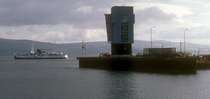 Southsea passing Greenock Comtainer Terminal (now renamed Greenock Ocean Terminal), heading for Helensburgh.