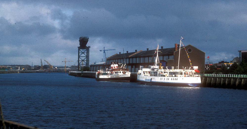 Southsea's visit to the Clyde in 1987 was, in a way, a homecoming as the ship had been built on the river 39 years earlier by the famous Dumbarton shipbuilding firm of William Denny & Brothers. She was one of two sister ships built in 1948 to make up for wartime losses from the Southern Railway's fleet that served between Portsmouth and Ryde on the Isle of Wight. Her sister was named Brading.