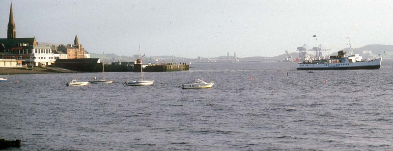 Southsea depating from Largs for the last time.