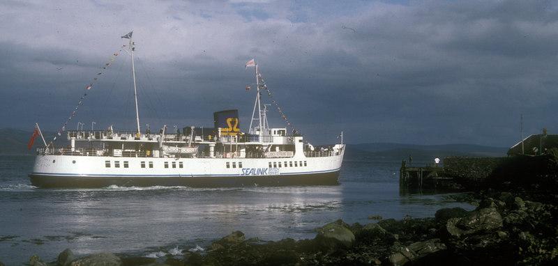 Southsea berthing at Tarbert - starboard side to.