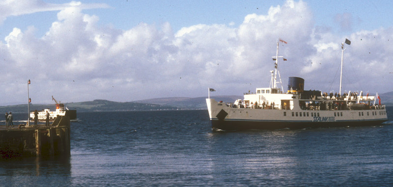 Southsea arriving at Largs with Loch Riddon
