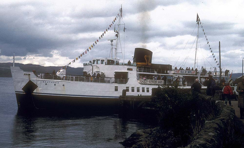 Southsea's first call at Tarbert, Loch Fyne - berthed port side to.