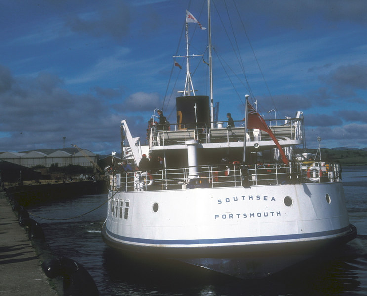 Southsea leaving Greenock Customhouse Quay during her last weekend of Clyde sailings.