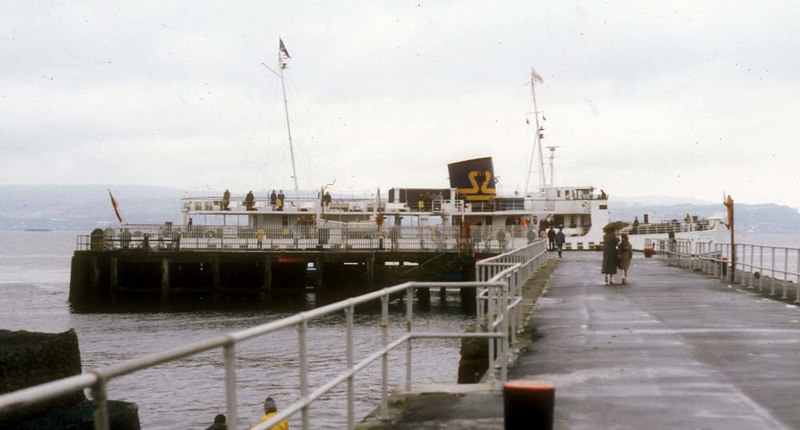 Southsea berthing at Helensburgh. On this drab Sunday she made a special trip to Brodick with low numbers aboard.