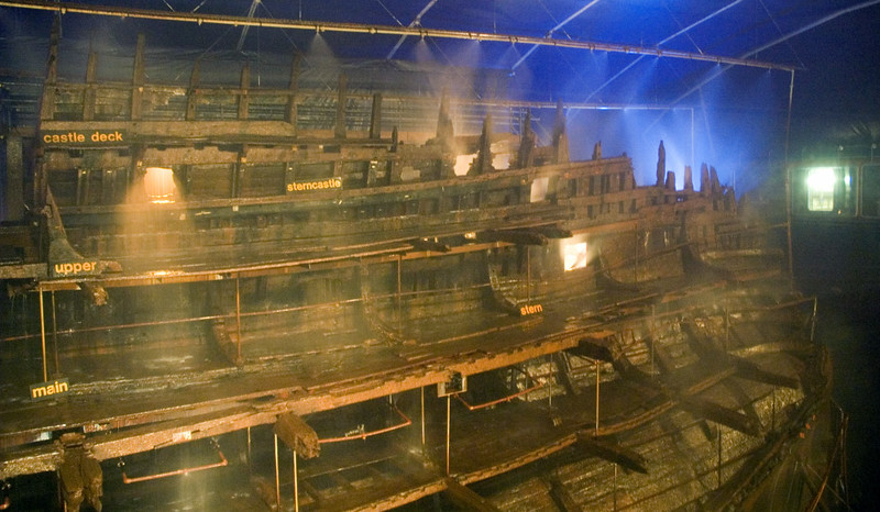Mary Rose, Portsmouth, 6 March 2007 6.  Looking aft from midships.