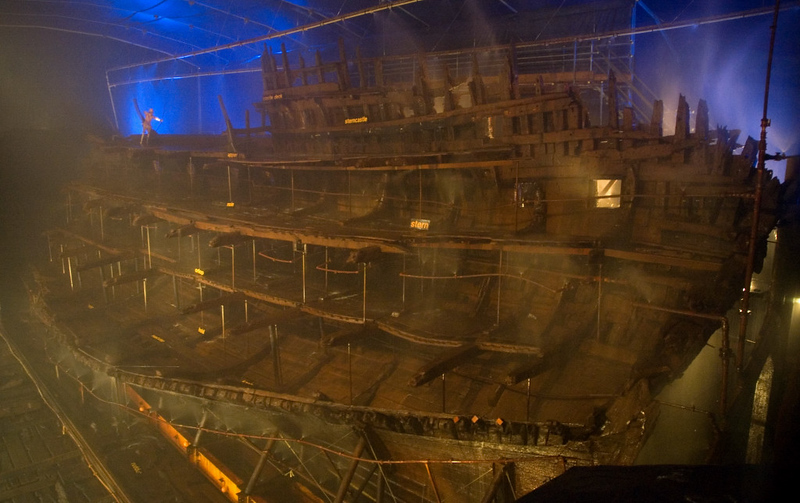 Mary Rose, Portsmouth, 6 March 2007 2.  Looking forward from the stern.
