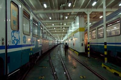 Italy: Messina train ferry, 2007